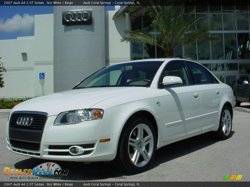 2007 Audi A4 2 0t Sedan Ibis White Beige Photo 1