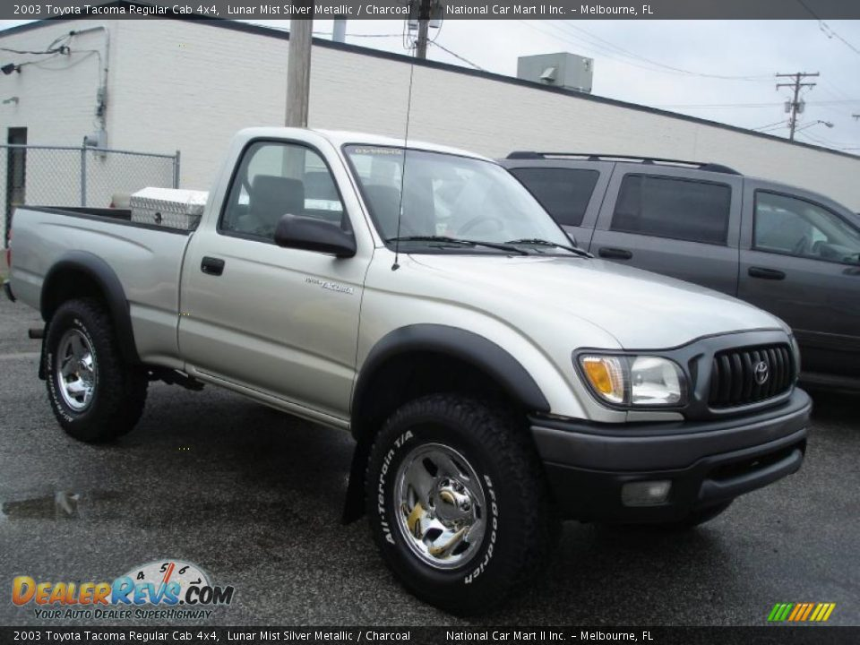2003 toyota tacoma regular cab 4x4 lunar mist silver metallic charcoal photo 3. Black Bedroom Furniture Sets. Home Design Ideas