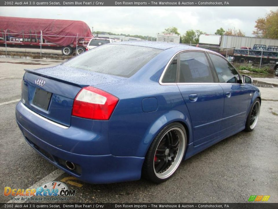 2002 Audi A4 3 0 Quattro Sedan Denim Blue Pearl Grey