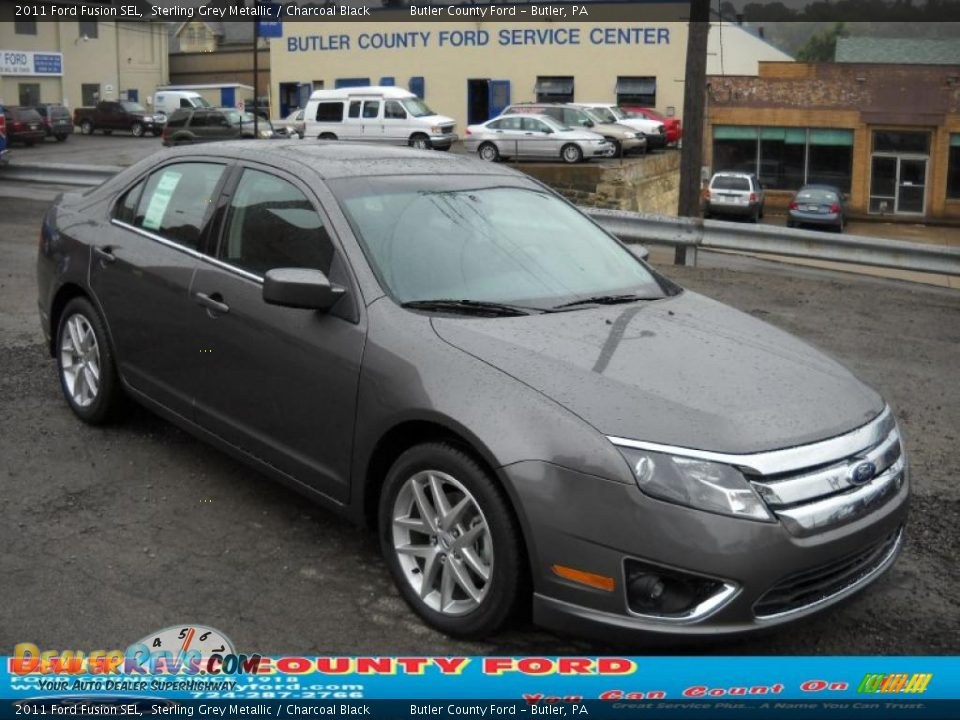 2011 Ford Fusion Sel Sterling Grey Metallic Charcoal