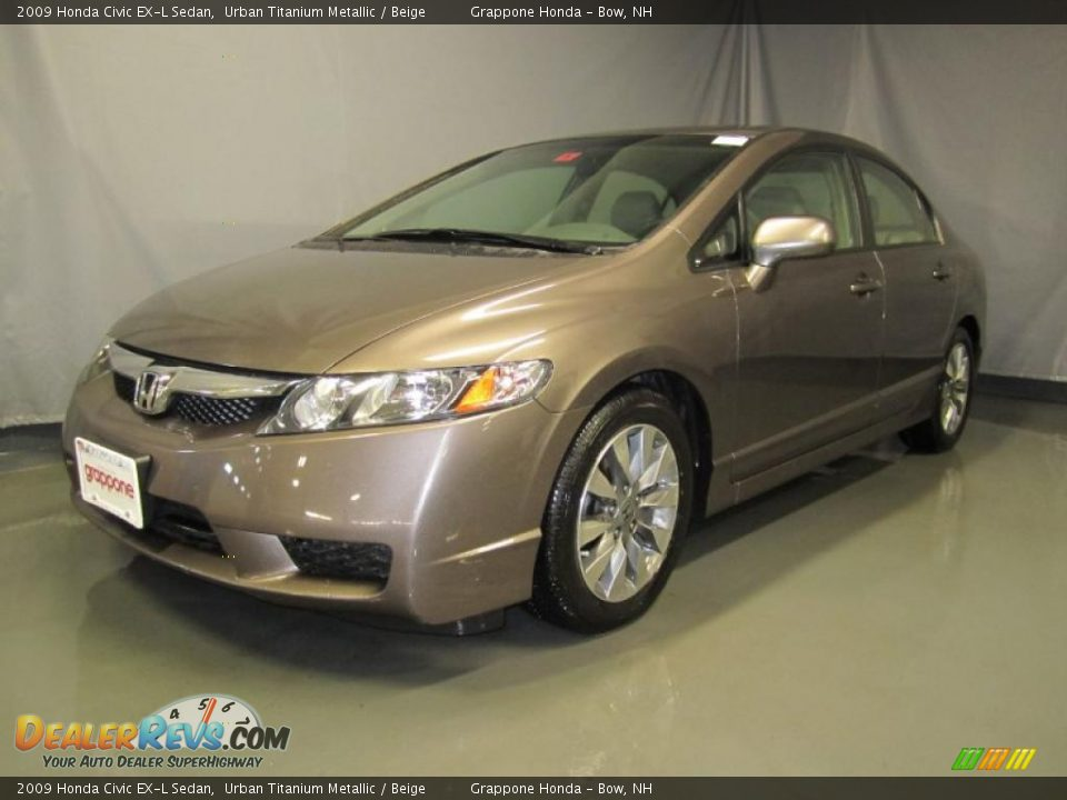 2009 honda civic ex l sedan urban titanium metallic beige photo 1. Black Bedroom Furniture Sets. Home Design Ideas