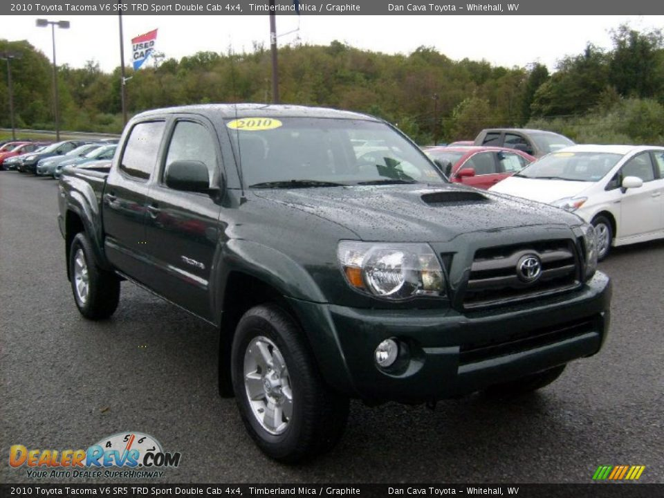 2010 toyota tacoma v6 sr5 trd sport double cab 4x4 timberland mica graphite photo 1. Black Bedroom Furniture Sets. Home Design Ideas