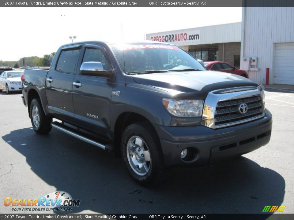 2007 toyota tundra limited crewmax 4x4 slate metallic graphite gray photo 1. Black Bedroom Furniture Sets. Home Design Ideas