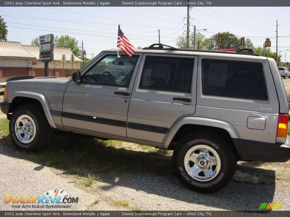 2001 jeep cherokee sport 4x4 silverstone metallic agate photo 12. Cars Review. Best American Auto & Cars Review
