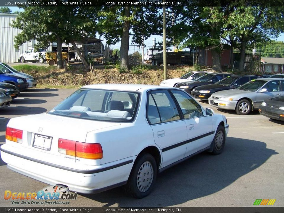 1993 Honda Accord Lx Sedan Frost White Beige Photo 7