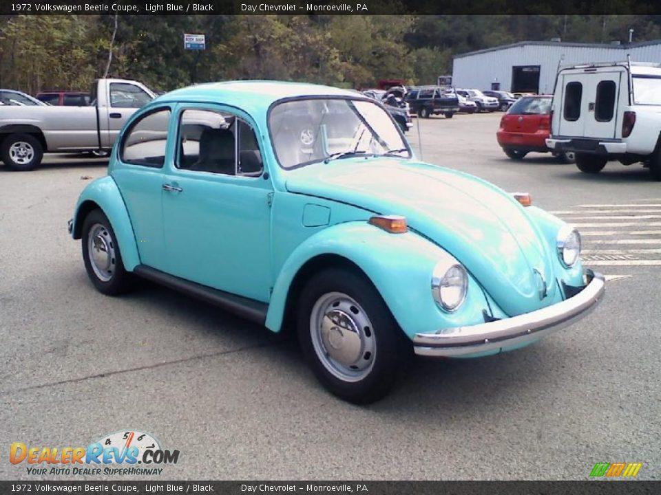 1972 volkswagen beetle coupe light blue black photo 3. Black Bedroom Furniture Sets. Home Design Ideas