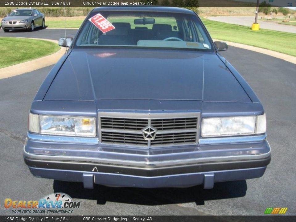 1988 Dodge Dynasty LE Blue / Blue Photo #2 | DealerRevs.com