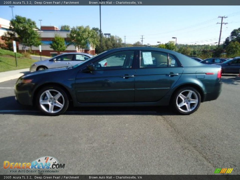 2005 Acura Tl 3 2 Deep Green Pearl Parchment Photo 2