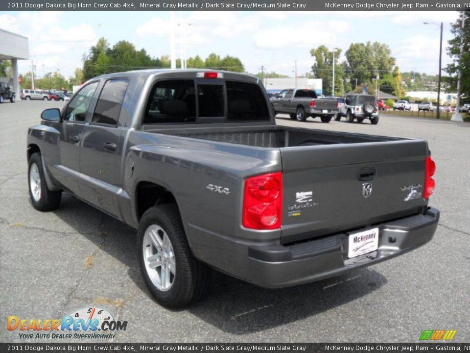 2011 Dodge Dakota Big Horn Crew Cab 4x4 Mineral Gray Metallic / Dark ...