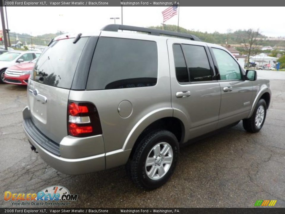 2008 Ford Explorer XLT Vapor Silver Metallic / Black/Stone Photo #4 ...