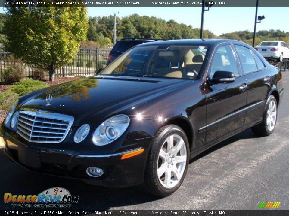 2008 mercedes benz e 350 4matic sedan sienna black for Mercedes benz e350 black