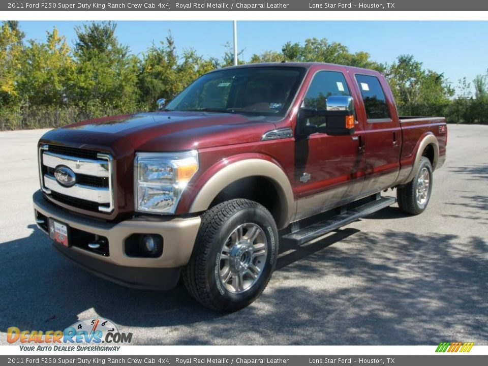 2011 ford f250 super duty king ranch crew cab 4x4 royal red metallic chaparral leather photo