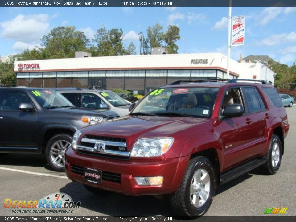2005 Toyota 4runner Sr5 4x4 Salsa Red Pearl Taupe Photo