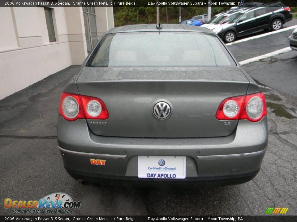 2006 volkswagen passat 3 6 sedan granite green metallic. Black Bedroom Furniture Sets. Home Design Ideas