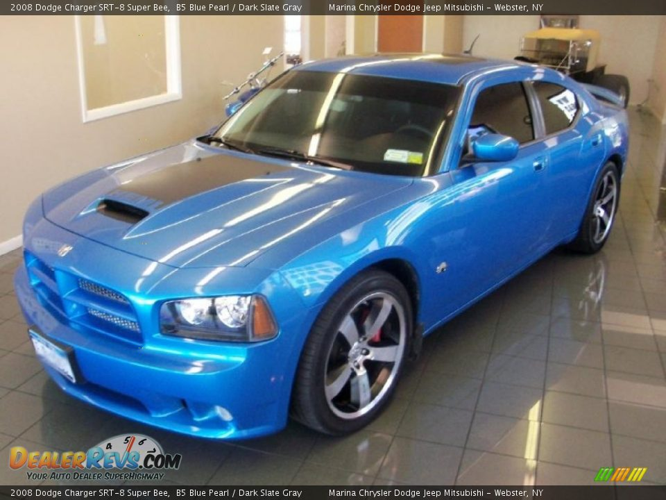 2008 dodge charger srt 8 super bee b5 blue pearl dark. Black Bedroom Furniture Sets. Home Design Ideas