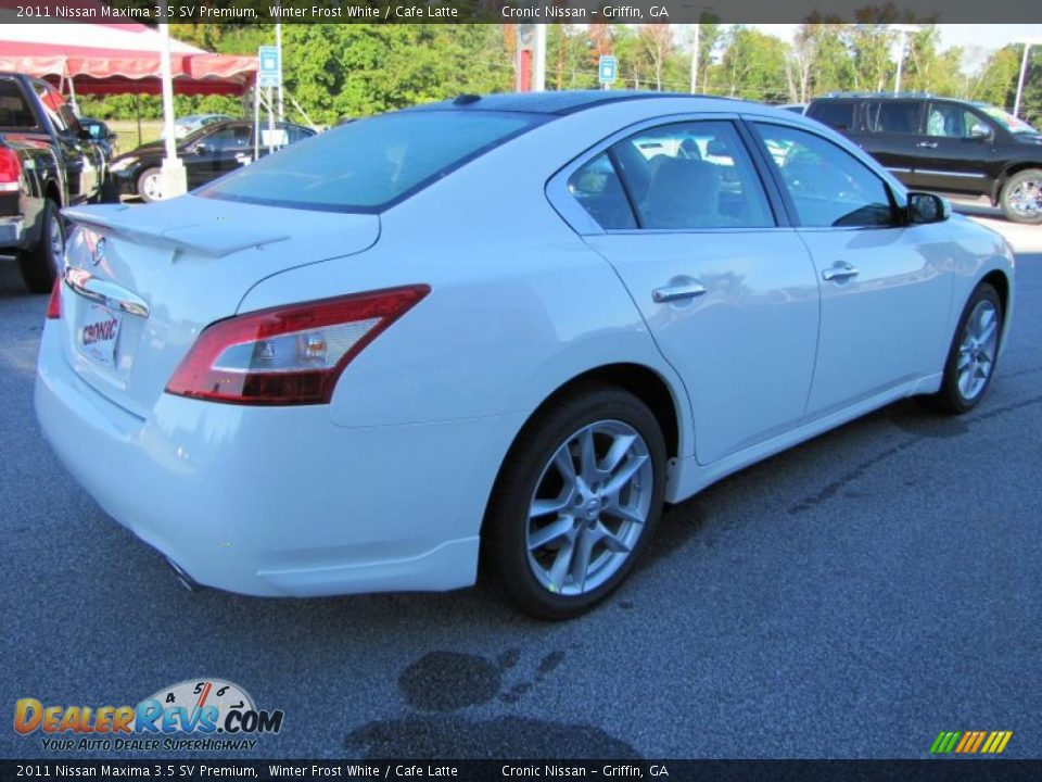 2011 Nissan Maxima 35 Sv Premium Winter Frost White Cafe Latte