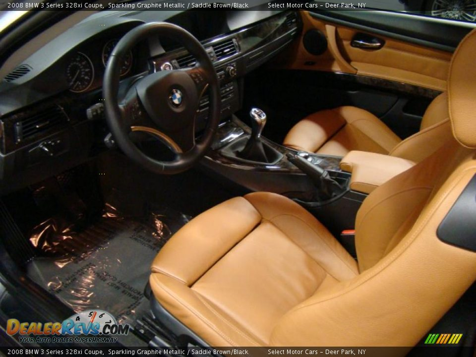 saddle brown black interior 2008 bmw 3 series 328xi coupe photo 8. Black Bedroom Furniture Sets. Home Design Ideas