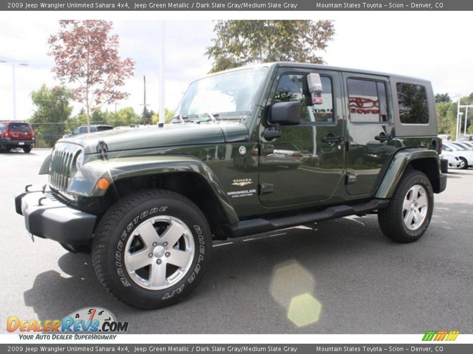 2009 jeep wrangler unlimited sahara 4x4 jeep green metallic dark slate gray medium slate gray. Black Bedroom Furniture Sets. Home Design Ideas