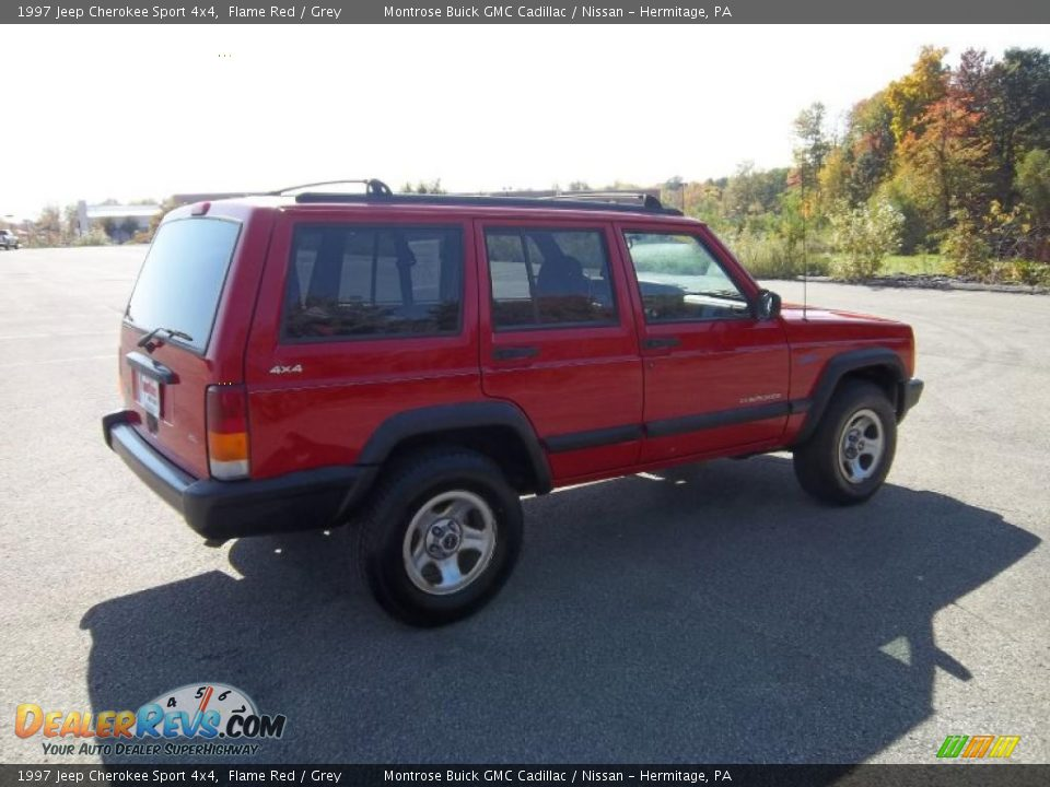 1997 jeep cherokee sport 4x4 flame red grey photo 8. Black Bedroom Furniture Sets. Home Design Ideas