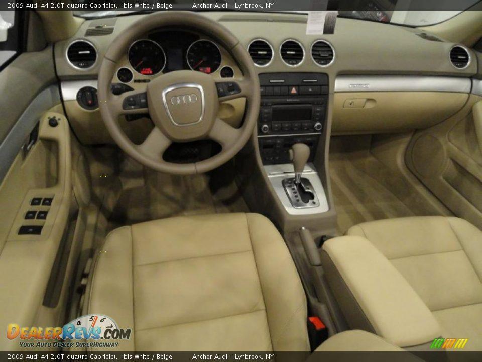 Beige Interior 2009 Audi A4 2 0t Quattro Cabriolet Photo