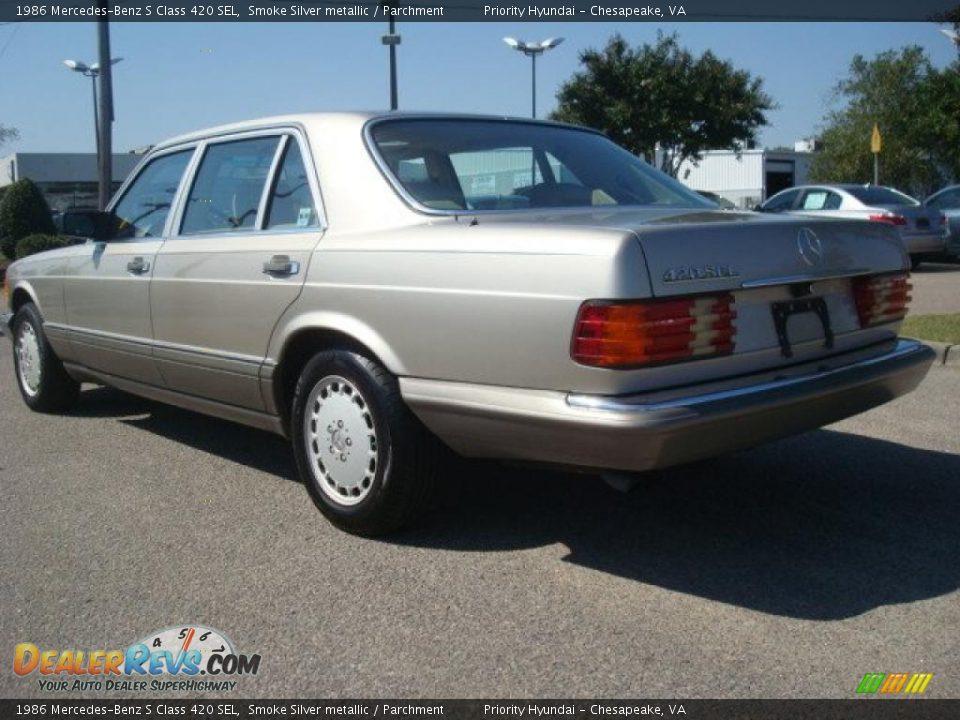 1986 mercedes benz s class 420 sel smoke silver metallic for 1986 mercedes benz 420 sel