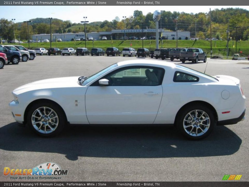 2011 ford mustang v6 premium coupe performance white. Black Bedroom Furniture Sets. Home Design Ideas