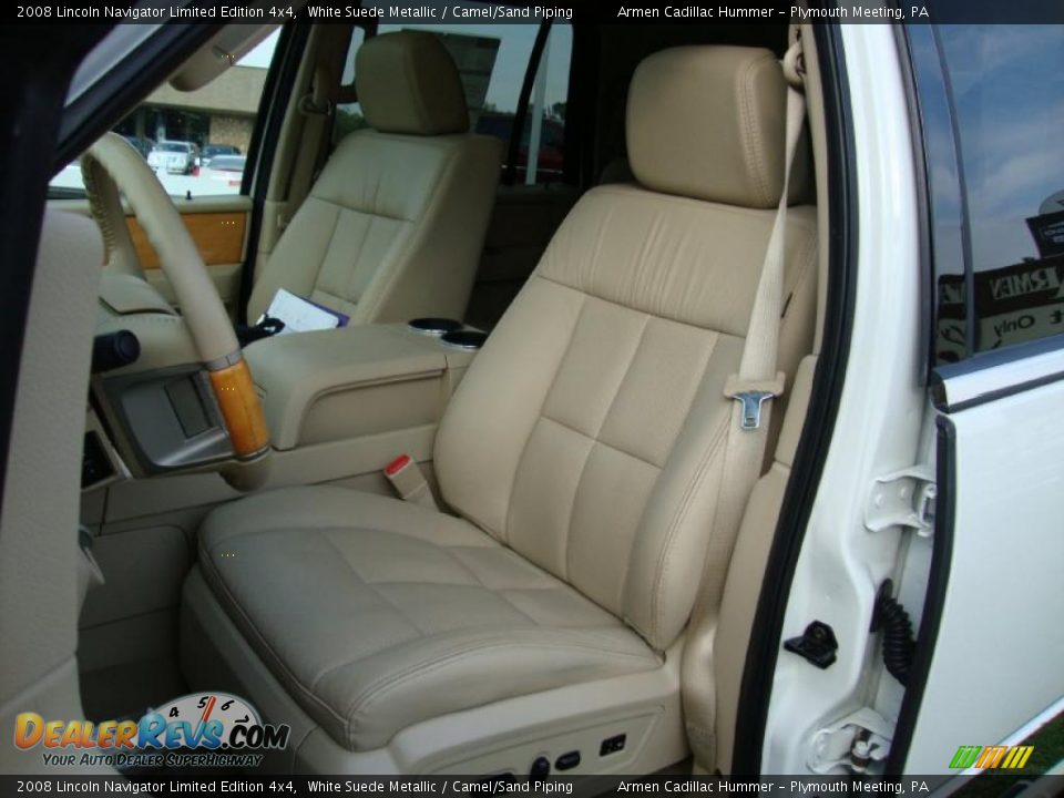 Camel Sand Piping Interior 2008 Lincoln Navigator Limited Edition 4x4 Photo 16
