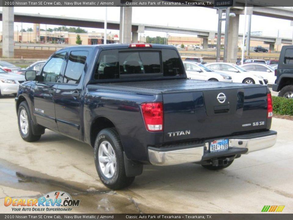 2010 Nissan Titan Se Crew Cab Navy Blue Metallic Almond