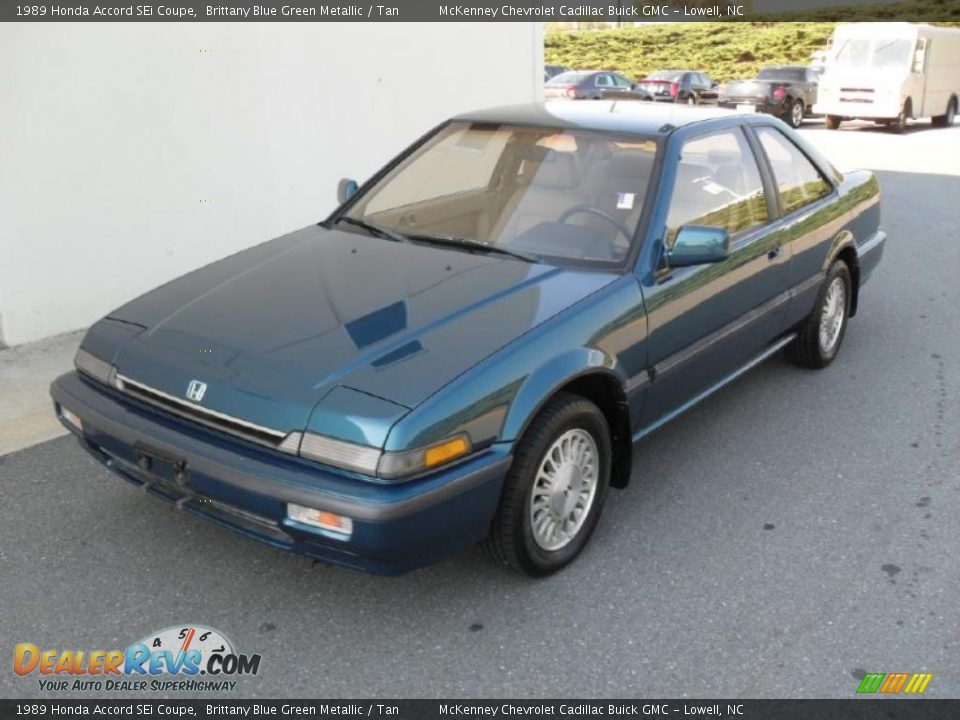 1989 honda accord sei coupe brittany blue green metallic. Black Bedroom Furniture Sets. Home Design Ideas