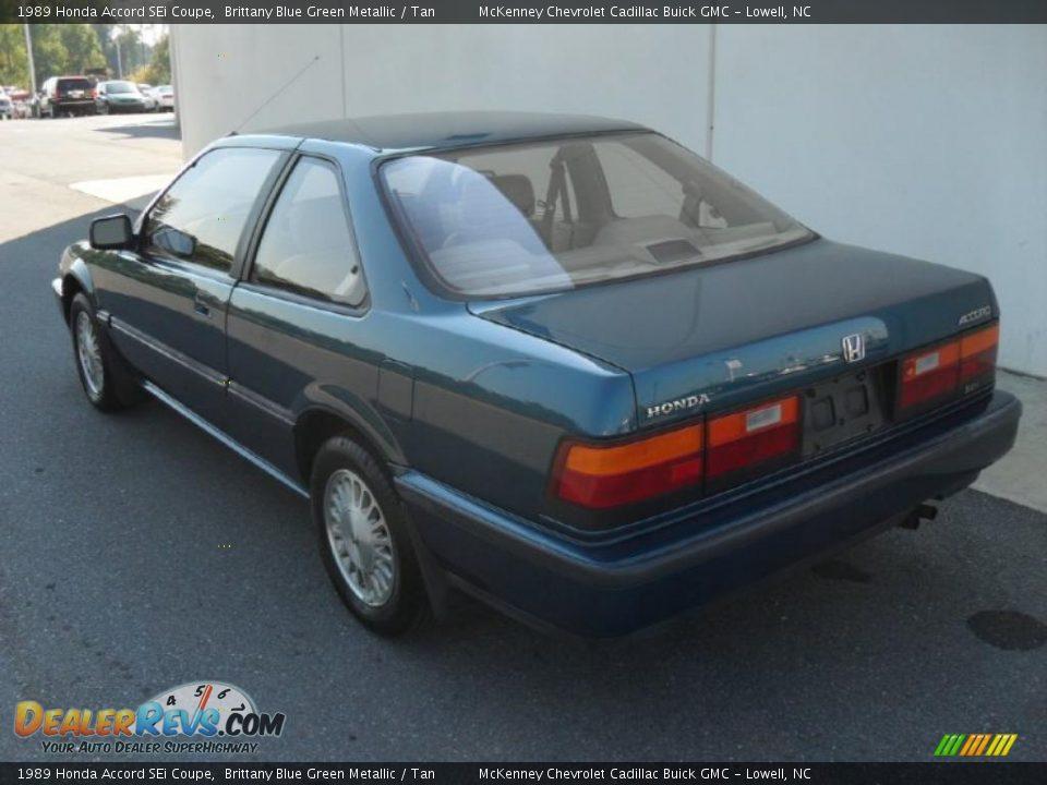 1989 Honda Accord SEi Coupe Brittany Blue Green Metallic ...