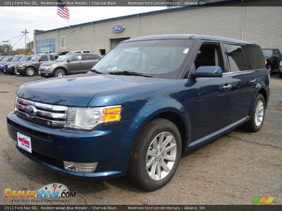 2011 ford flex sel mediterranean blue metallic charcoal. Black Bedroom Furniture Sets. Home Design Ideas