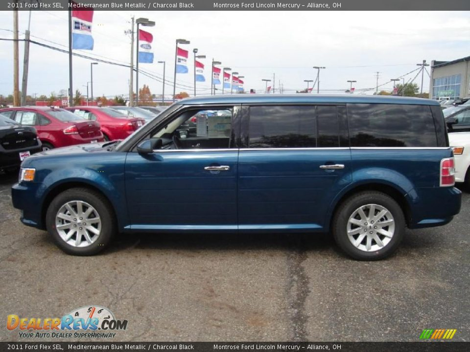 mediterranean blue metallic 2011 ford flex sel photo 2. Black Bedroom Furniture Sets. Home Design Ideas