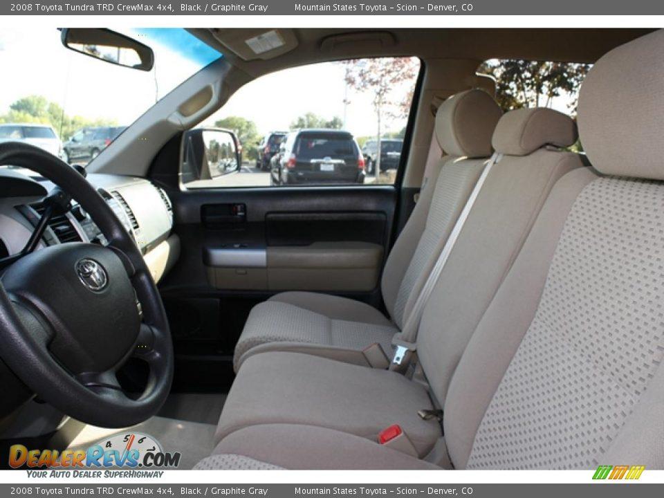 Graphite Gray Interior 2008 Toyota Tundra Trd Crewmax 4x4 Photo 9