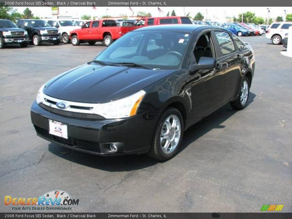 2008 ford focus ses sedan black charcoal black photo 3 dealerrevs