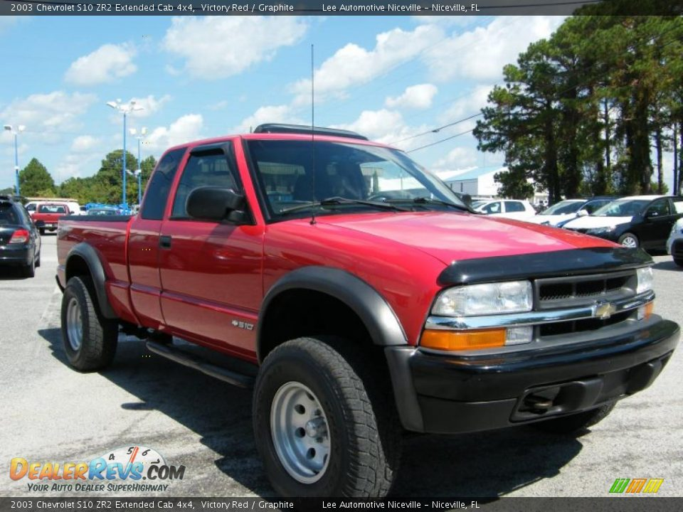2003 chevrolet s10 zr2 extended cab 4x4 victory red graphite photo 7. Black Bedroom Furniture Sets. Home Design Ideas