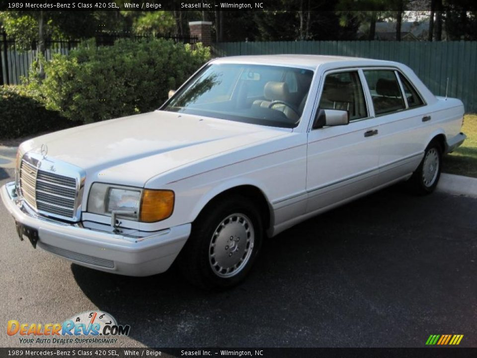 1989 mercedes benz s class 420 sel white beige photo 1 for Mercedes benz s 420