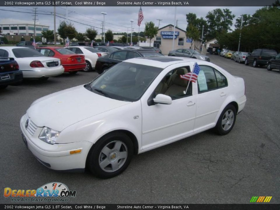 2002 volkswagen jetta gls 1 8t sedan cool white beige photo 1. Black Bedroom Furniture Sets. Home Design Ideas