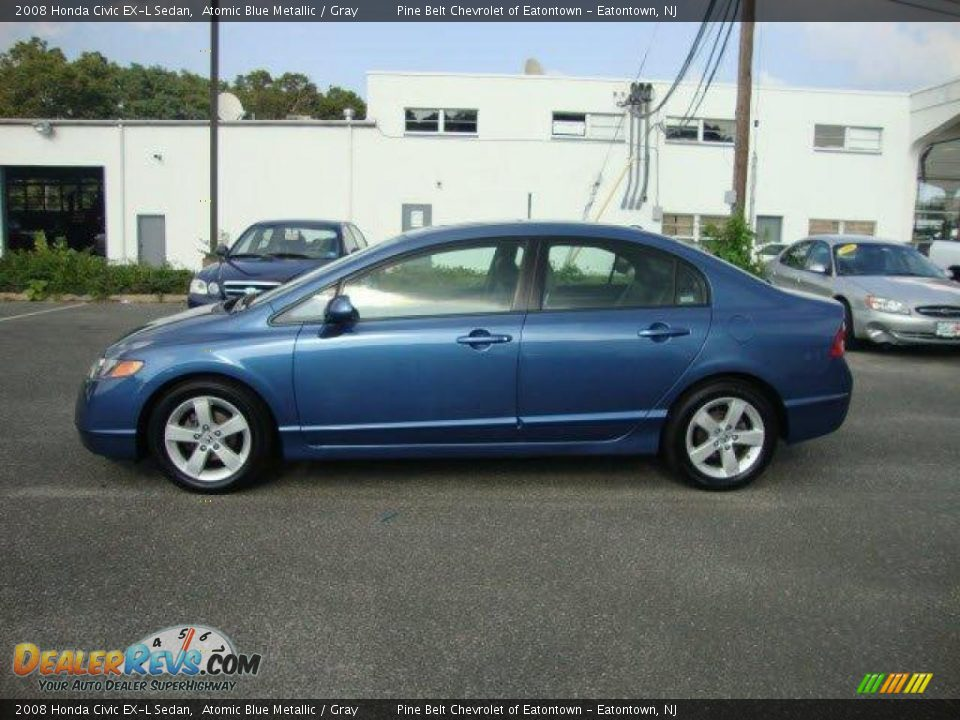 2008 honda civic ex l sedan atomic blue metallic gray. Black Bedroom Furniture Sets. Home Design Ideas
