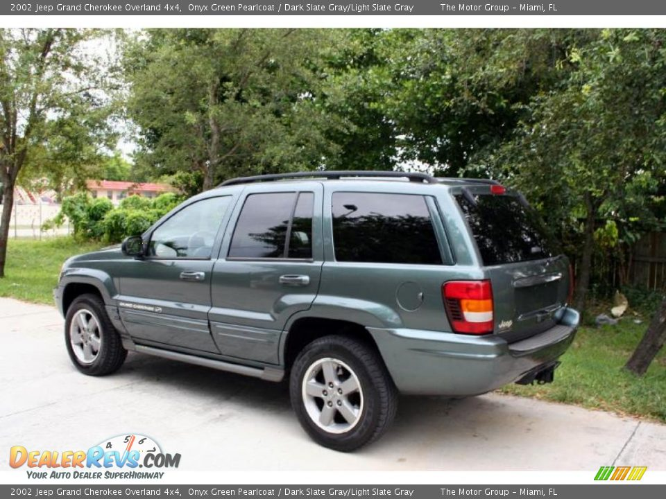 2002 jeep grand cherokee overland 4x4 onyx green pearlcoat. Black Bedroom Furniture Sets. Home Design Ideas