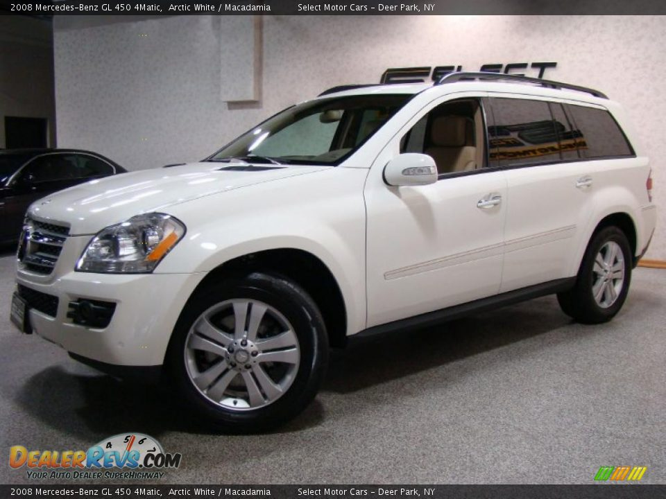 2008 mercedes benz gl 450 4matic arctic white macadamia photo 1. Black Bedroom Furniture Sets. Home Design Ideas