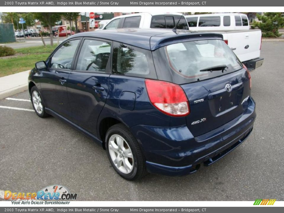 2003 toyota matrix xr awd indigo ink blue metallic stone. Black Bedroom Furniture Sets. Home Design Ideas