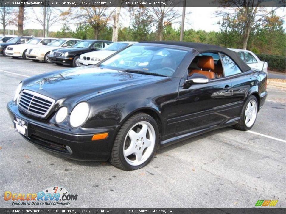 2000 mercedes benz clk 430 cabriolet black light brown photo 1. Black Bedroom Furniture Sets. Home Design Ideas