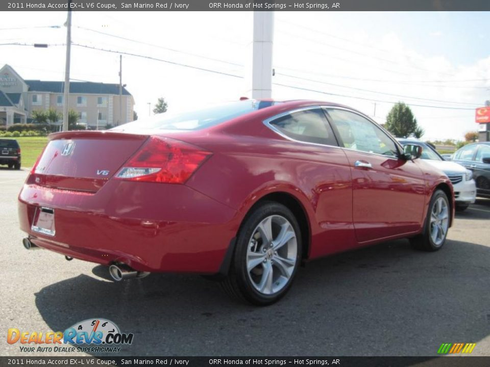 2011 honda accord ex l v6 coupe san marino red ivory photo 5. Black Bedroom Furniture Sets. Home Design Ideas