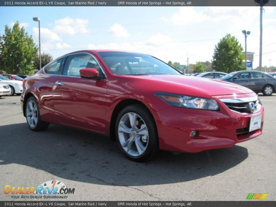 2011 Honda Accord Ex L V6 Coupe San Marino Red Ivory