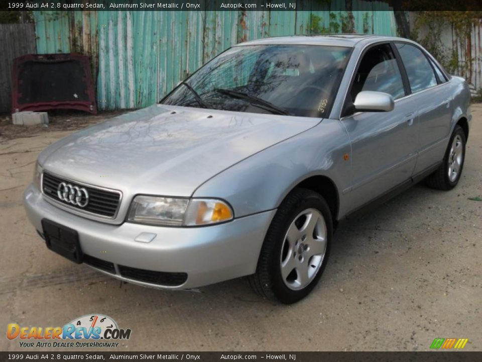 1999 audi a4 2 8 quattro sedan aluminum silver metallic. Black Bedroom Furniture Sets. Home Design Ideas