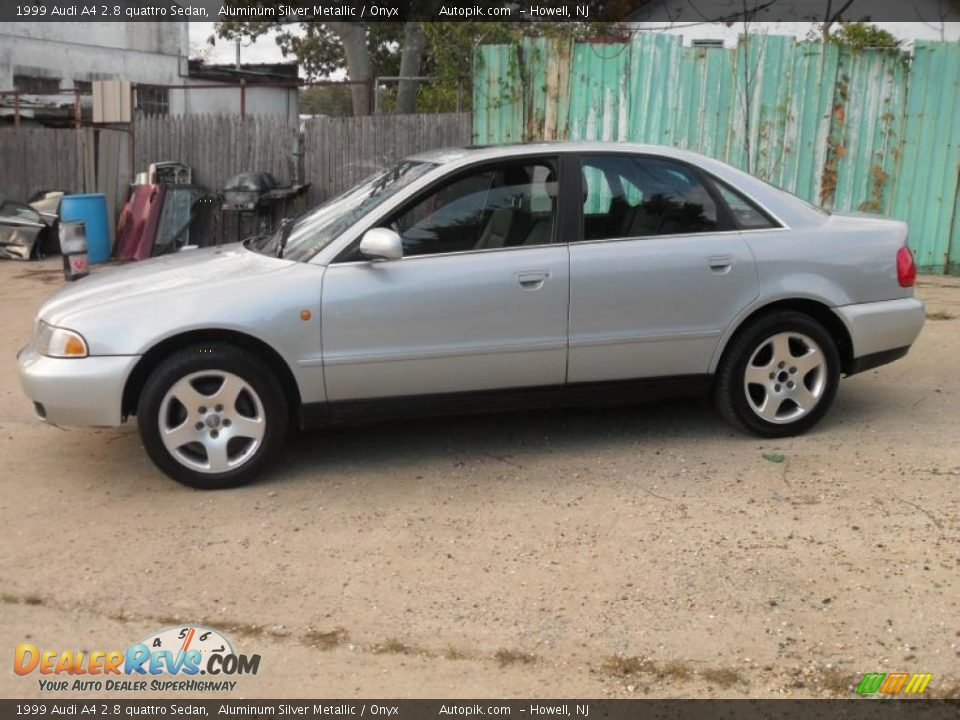 1999 Audi A4 2.8 quattro Sedan Aluminum Silver Metallic / Onyx Photo ...