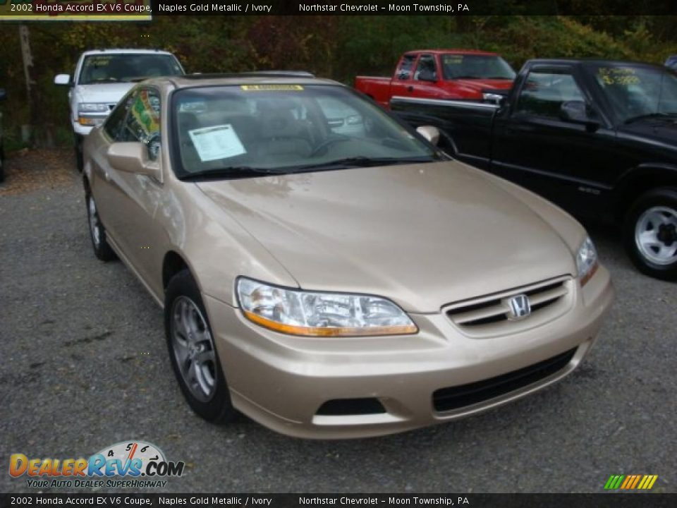 2002 honda accord ex v6 coupe naples gold metallic ivory photo 1. Black Bedroom Furniture Sets. Home Design Ideas