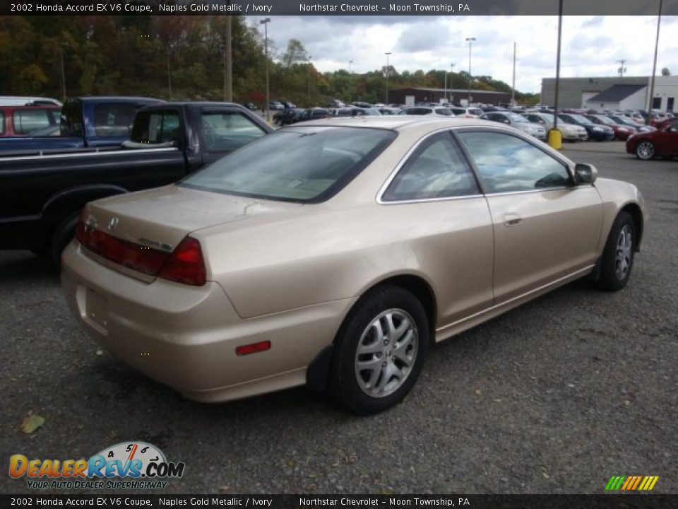 2002 honda accord ex v6 coupe naples gold metallic ivory photo 2. Black Bedroom Furniture Sets. Home Design Ideas