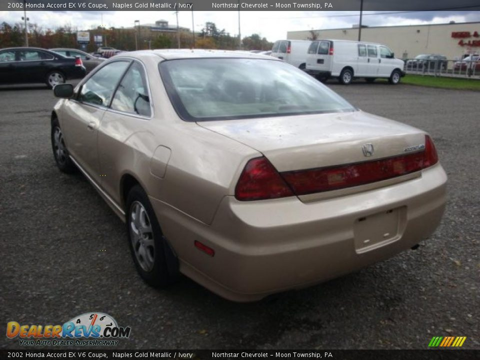 2002 honda accord ex v6 coupe naples gold metallic ivory photo 4. Black Bedroom Furniture Sets. Home Design Ideas