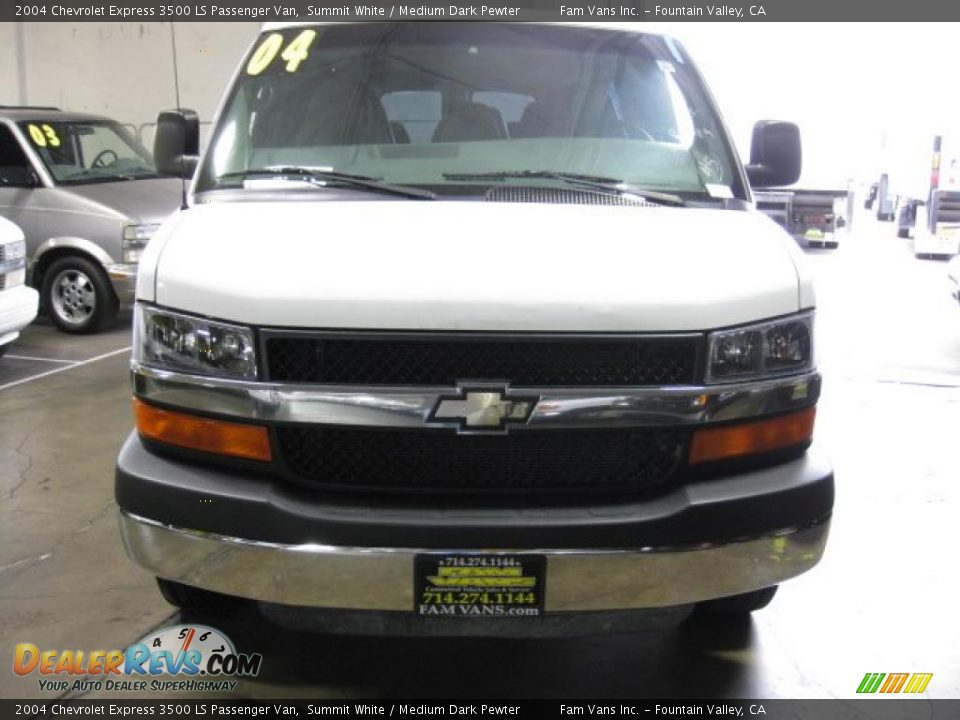 2004 chevrolet express 3500 ls passenger van summit white. Black Bedroom Furniture Sets. Home Design Ideas
